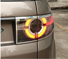 4pcs/set For Land Rover Discovery Sport ABS Chrome Rear Tail Light Lamp Cover Trim 2015+