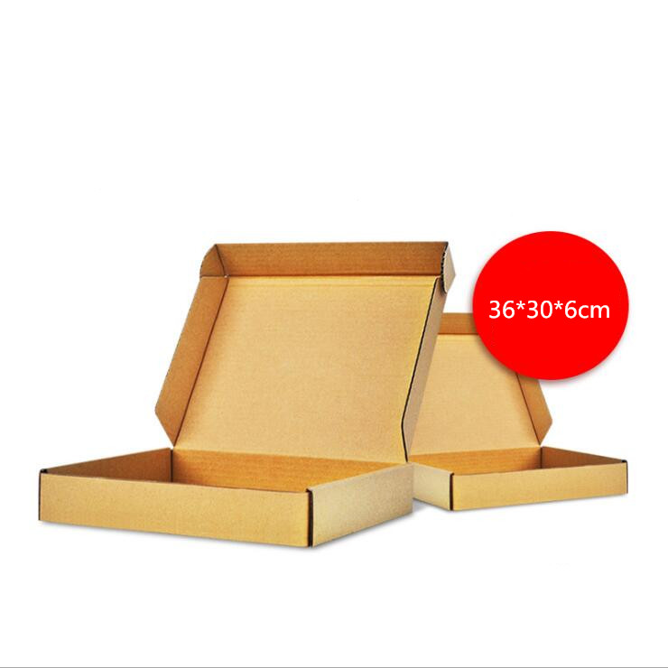 10pcs/lot 36*30*6cm Paper Boxes Kraft Brown Gift Business Express Shopping Delivery Packaging Paper Package Mailing Box