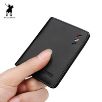 100% Genuine Leather wallet men Small Mini Ultra thin Compact wallet Handmade wallet Cowhide Card Holder Short Design purse New
