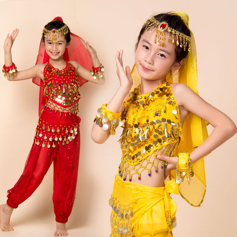 bollywood dance costumes Child clothes costume set kids performance wear female child belly BD42011 - No.1 works store
