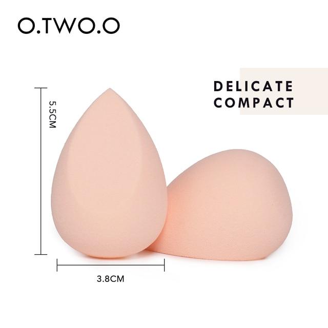O.TWO.O 2pcs/set Makeup Sponge Heart-Shape Box Non-Latex Material Cosmetic Puff Powder Foundation Use Beauty Make Up Tools 2