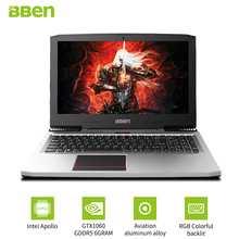 BBEN G16 Gaming Laptops Pro Windows10 computers 15.6″ GTX1060 Intel Core i7 7700HQ DDR4 8G/16G/32G RAM 256G/512G SSD,1TB/2TB HDD