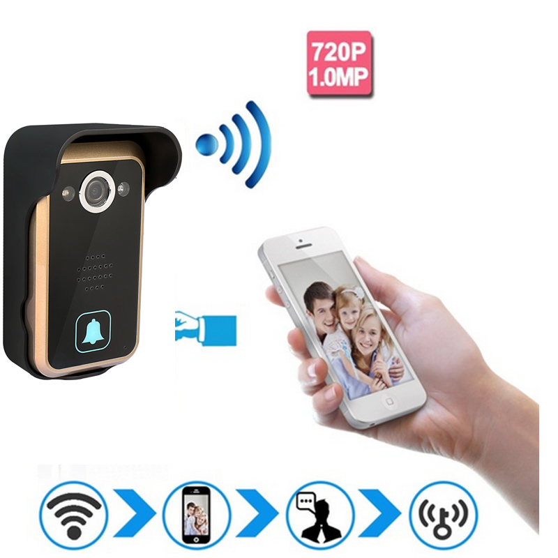 720P IP Wifi Doorbell Camera Motion Detection Alarm wifi Video Intercom CAMERA Control Door Phone Wireless video Door Bell wireless intercom 720p ip camera p2p motion detection