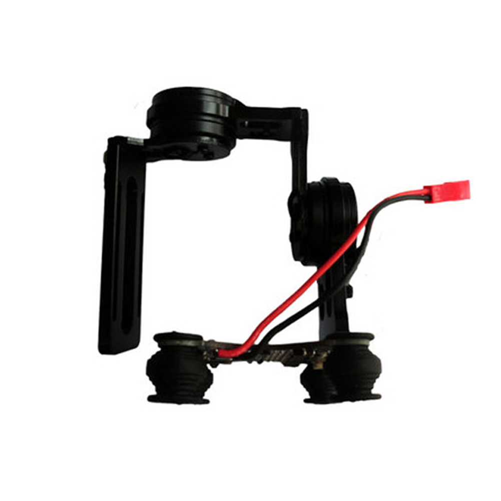 Capteur Durable professionnel d'alliage d'aluminium de photographie de cardan de contrôleur de vis sans brosse aérien de 2 axes pour la caméra de GoPro - 6