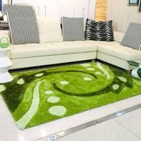 Modern minimalist carpet garden green refreshing sofa living room stretch silk coffee table mat fashion carpet full shop