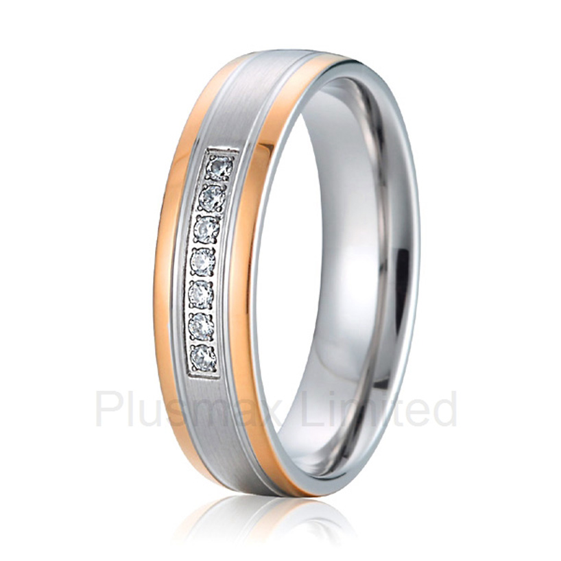 anel feminino cheap pure titanium jewelry wholesale a lot of new design cheap pure titanium wedding band rings anel de casamento cheap pure titanium satin surface gold color colorful stone cheap pure titanium promise wedding band rings