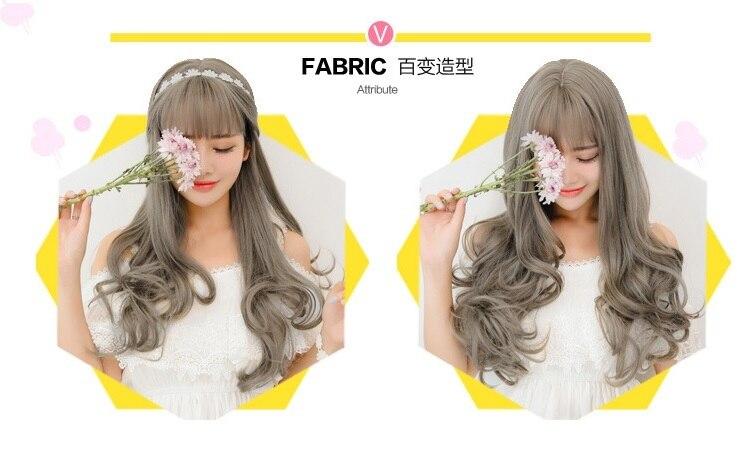 Kigurumi Onesie Cosplay Elegant temperament princess headwear with Bangs Heat Resistant Synthetic Kinky Curly Hair accessories