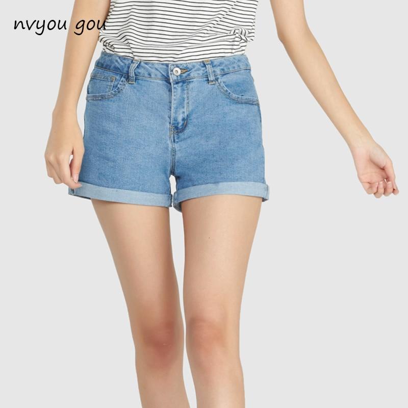 Mini şort sexy yırtılmış qısa jeans qadın 2018 yay tünd mavi - Qadın geyimi - Fotoqrafiya 1