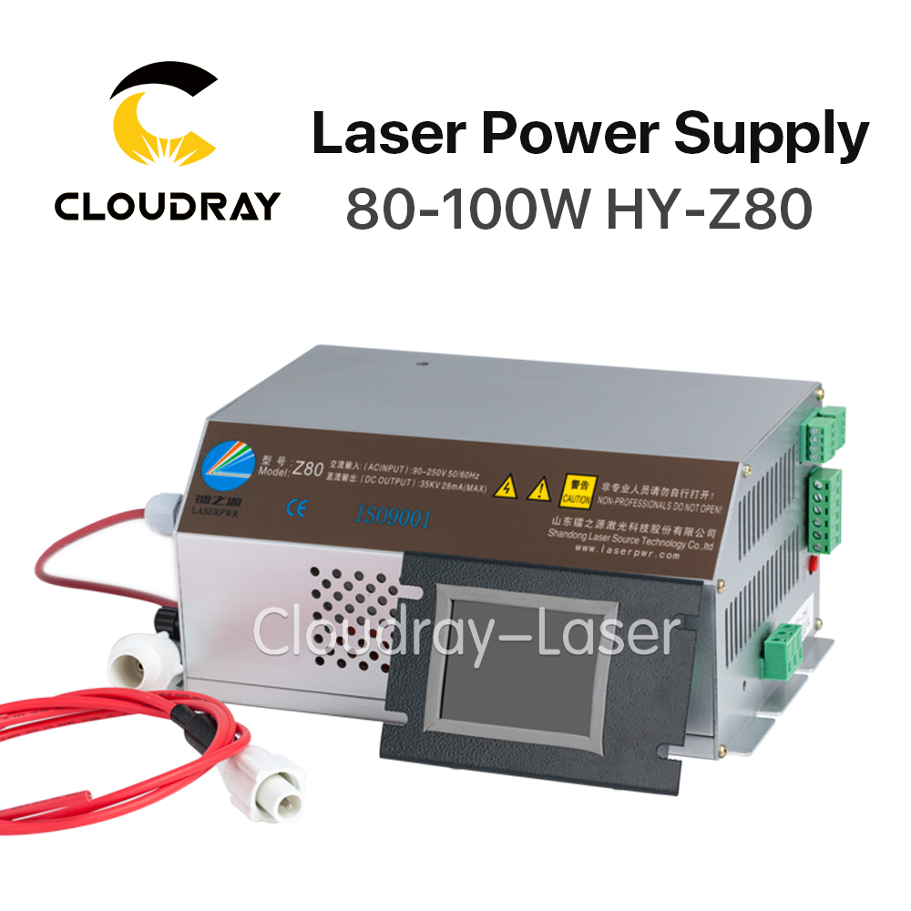 Cloudray 80 100W CO2 font b Laser b font Power Supply Monitor AC90 250V EFR Tube
