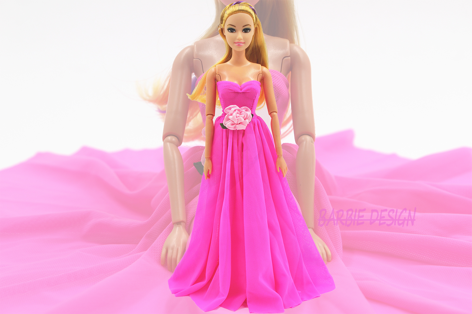 New Arrival Pink Outfit Handmade Doll maxiskit Style Costume for Barbie Doll Kids Ladies BEST Present Child Toy 1C102A