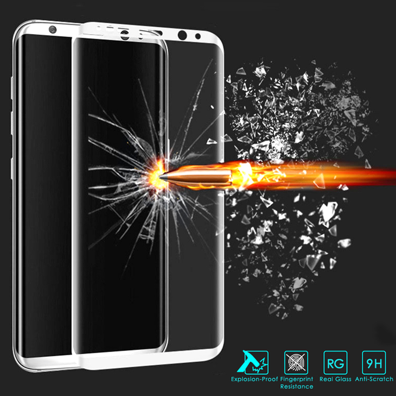Tempered Glass For Samsung Galaxy S8 S8 Plus 3D Full Cover Screen Protector 9H Nano Coating Protective Film For Galaxy S8 S8+