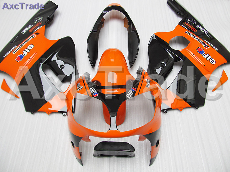 Orange Black Moto Fairing Kit For Kawasaki ZZ-R 1200 ZX12R ZX-12R 2000 2001 00 01 Fairings Custom Made Motorcycle Bodywork C530 high grade for kawasaki zx12r fairings 2000 ninja zx12 fairing 2001 zx 12r 00 01 green flame in glossy black sm17