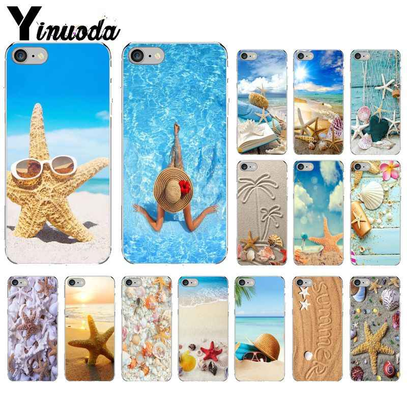 Yinuoda Summer beach starfish Pattern TPU Soft Phone Cell Phone Case for iPhone 8 7 6 6S Plus 5 5S SE XR X XS MAX Coque Shell