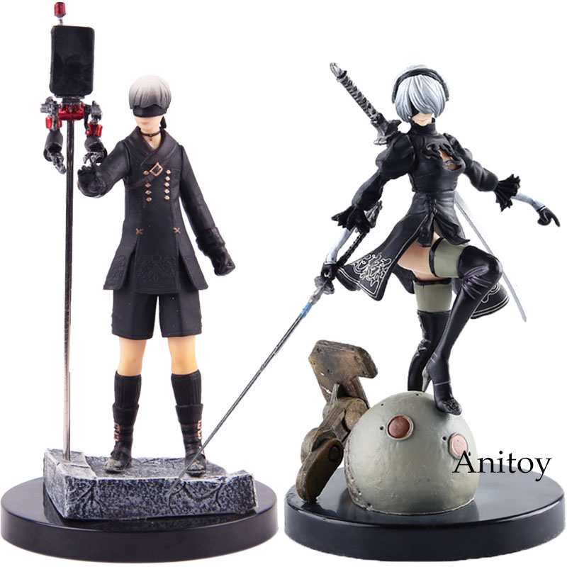 Game Anime Figure NieR Automata YoRHa No.2 Type B 2B / No.9 Type S 9S PVC NieR: Automata Action Figure Collectible Model ToyGame Anime Figure NieR Automata YoRHa No.2 Type B 2B / No.9 Type S 9S PVC NieR: Automata Action Figure Collectible Model Toy