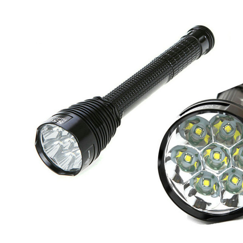 TR-J18 Flashlight 5 Mode 8500 Lumens 7 X CREE XM-L T6 LED by 18650 or 26650 Battery Waterproof High Power Torch lamp 8000 lumens flashlight 5 mode cree xm l t6 led flashlight zoomable focus torch by 1 18650 battery or 3 aaa battery