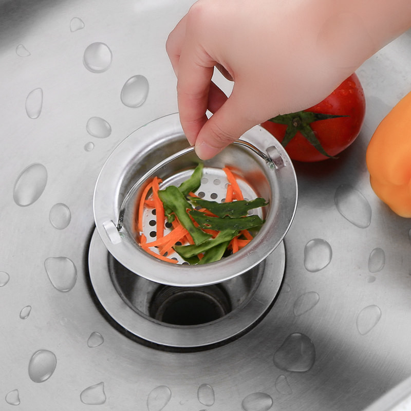 Kitchen Outfall Water Tank Strainer Sink Water Tank Filter Stainless Steel Sewer Filter Floor Drain 9/11cm kitchen sink strainer