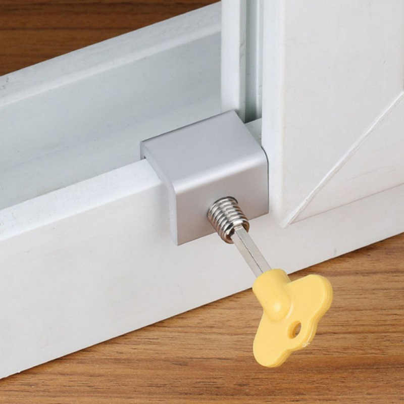 2019 nueva ventana de la puerta de aluminio limitador de bloqueo de la ventana de seguridad de los niños cerradura de la llave de seguridad combinación cerradura de la puerta