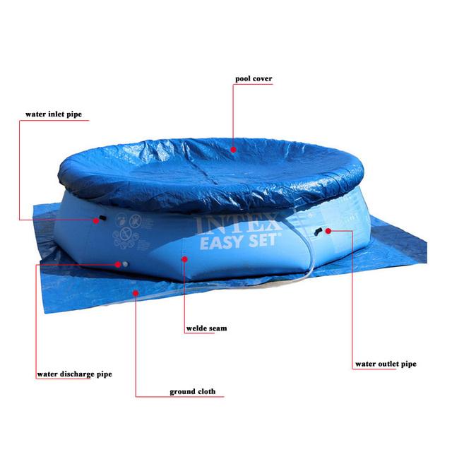 INTEX blue color above ground swimming pool family summer play kids children swim pool piscine aqua water sport easy set