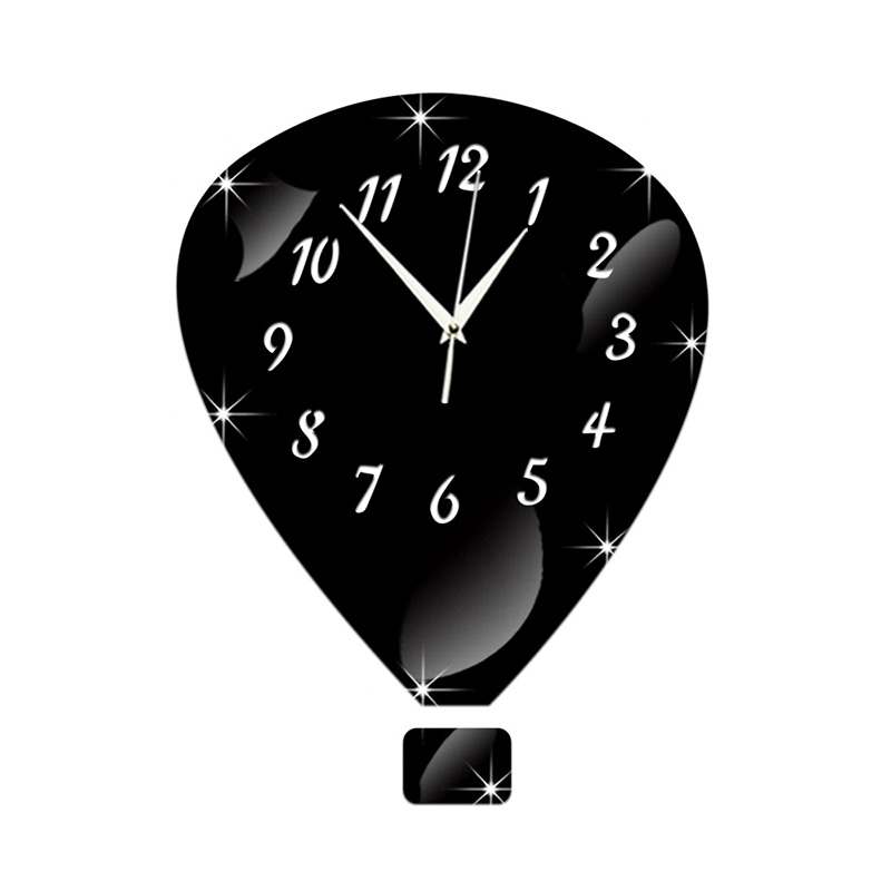 New Fashion 3D wall clocks home decor Crystal mirror hot ...