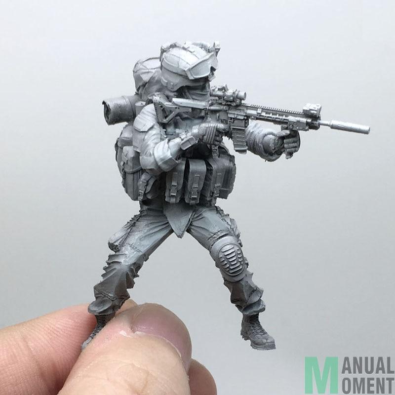 Miniature 1/35 Modern U.S Army Special Forces Battle Status Individual Soldier C Resin Model Figure Kit AH-05