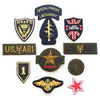 Di alta qualità 10 della miscela militare patch per abbigliamento di ferro cucire sui vestiti zona del ricamo bracciale tessuto esercito appliques lable badge