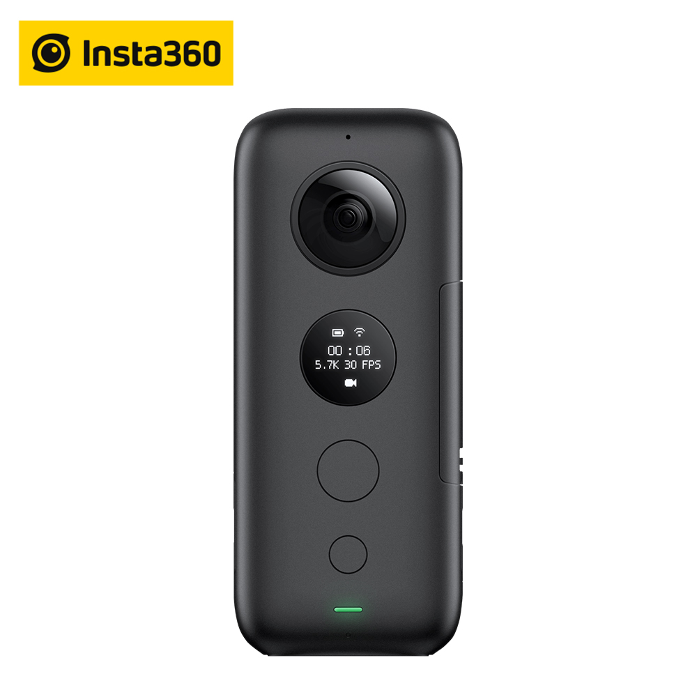 Insta360 ONE X Action Kamera VR 360 Panorama Kamera Für iPhone und Android 5.7 K Video 18MP Foto Unsichtbare Selfie Stick