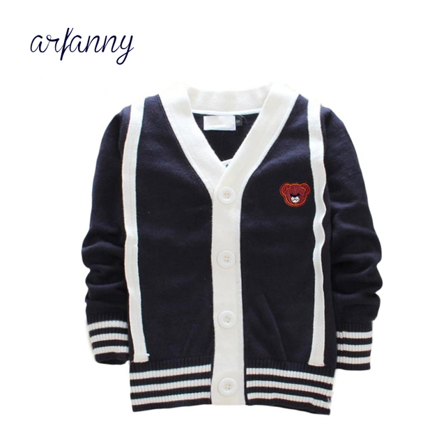 b32e840f9c4f8 Boys Sweater Girls Coat 1-6 year Baby knit V-neck clothes sweater girl soft  Autumn and winter quality100% cotton sweater Kids