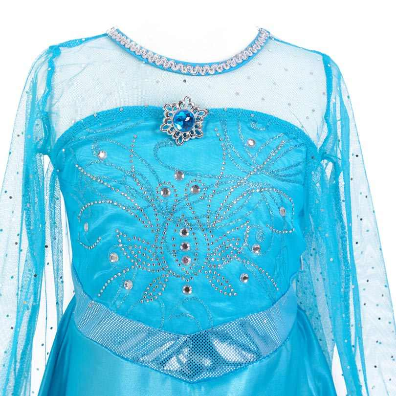 Fashion Girls Elsa Anna Dress Halloween Costume Fancy Kids Party Fantasia Menina Princess Christmas Costume Quality Fairy Style
