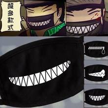 Nan bao3 Women Men Black Anti-Dust Cotton Cute Bear Anime Cartoon Mouth Mask Kpop teeth mouth Fashion Muffle Face Mouth Masks(China)