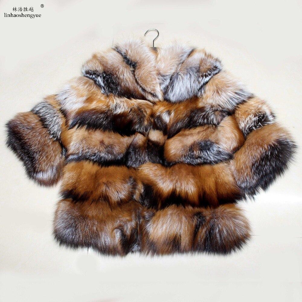 Chaud Blanchiment Renard D'hiver Mode Linhaoshengyue Or 1 Fourrure Femmes De Argent Manteau dwvqRYfqX