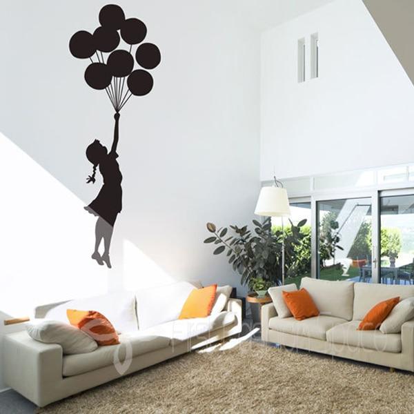 Banksy Floating Balloons Vinyl Wall Decal Wall Mural Wall Art