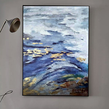 100% Hand Painted Abstract Golden Scenery Painting On Canvas Wall Art Adornment Pictures For Live Room Home Decor