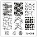 Новый ТУ Дизайнов Ногтей Печать Изображения Пластина ИНСТРУМЕНТЫ Красоты Ногтей Диск диаметром 6 см * 6 см Штамповка Шаблона
