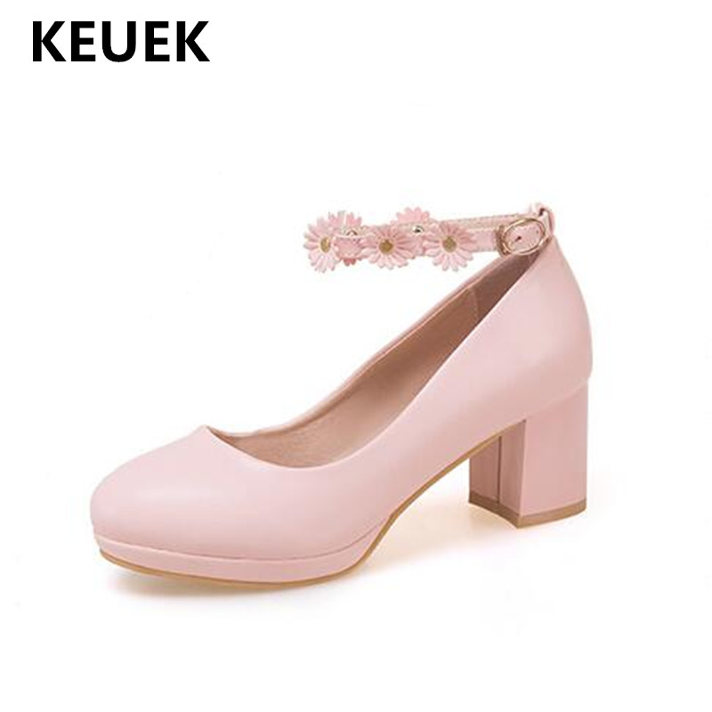 New Spring/Autumn Children Leather Shoes Girls Princess Baby High-heeled Shoes Student Performance Kids Dress Shoes 02C