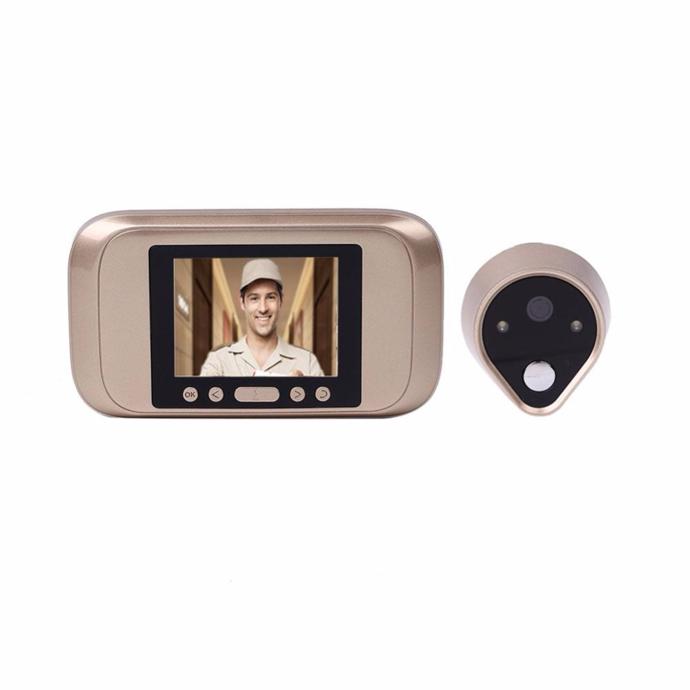 giantree 720P HD Infrared Night Vision Electronic Doorbell Home Door Monitor Camera Take Pictures infrared detection automatic door 2012 latest competition kit electronic product assembly and commissioning test