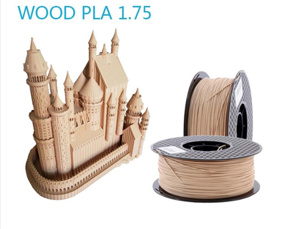 Ahşap Filament 1.75mm için 3D Yazıcı Ahşap Etkisi 3D Baskı Malzemesi Yüksek Kaliteli Plastik 3D Sarf Malzemesi hattı ipek