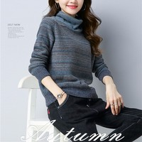 New Arrive Autumn And Winter Female Turtleneck Sweater Female Long Sleeve Sweater Knitted Pullovers