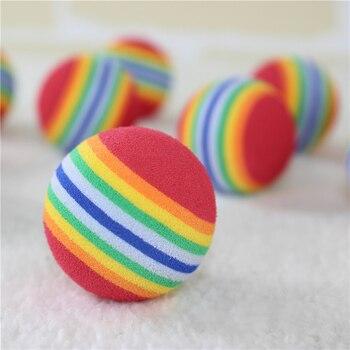 Juguetes de goma EVA de juguete colorido para mascotas, juguetes de seguridad para perros y gatos, juguetes para perros de buena compañía, juguetes para cachorros, todos disponibles, juguetes para mascotas de 3 tamaños
