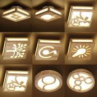 2 шт/комплект светодиодный настенный светильник потолочный светильник твердой древесины личность Nordic Минималистский дверь крыльца коридо