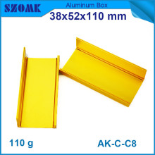 20pcs/lot szomk aluminium instrument enclosure in golden color for electronics metal box 38*52*110mm
