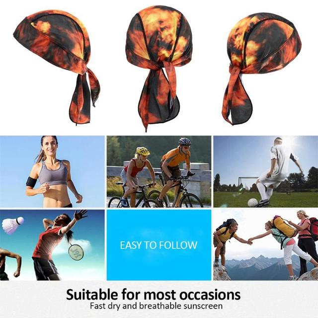 Unisex Outdoor Cycling Cap Head Scarf Quick Dry Bandana Pirate Hat Sport Bicycle Headscarf Gorras Ciclismo For Hiking Cycling