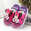 2017 children garden shoes hot sale summer boy girls baby cartoon mickey minnie sandals kids antiskid indoor slippers mini shoes
