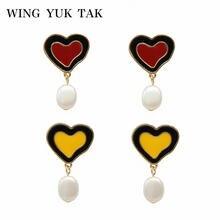 Женские серьги в виде сердца wing yuk tak модные массивные ювелирные