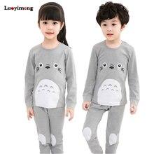 2ec2bdbc9e721a Nowy Piżamy Dziecięce Chłopcy Sleepwear Dzieci 100% Bawełny Z Długim Rękawem  Moda Panda Kreskówki Totoro Piżamy Dla Dziewczyn Dz..