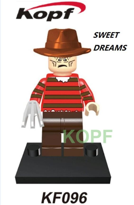 Single Sale Super Heroes Sweat Dreams Creepy Doll Horror Theme Movie Building Blocks Action Figures Toys for children Gift KF096 single sale super heroes master wu garmadon nya the wei snake lloyd bricks ninja movie building blocks children gift toys pg1020