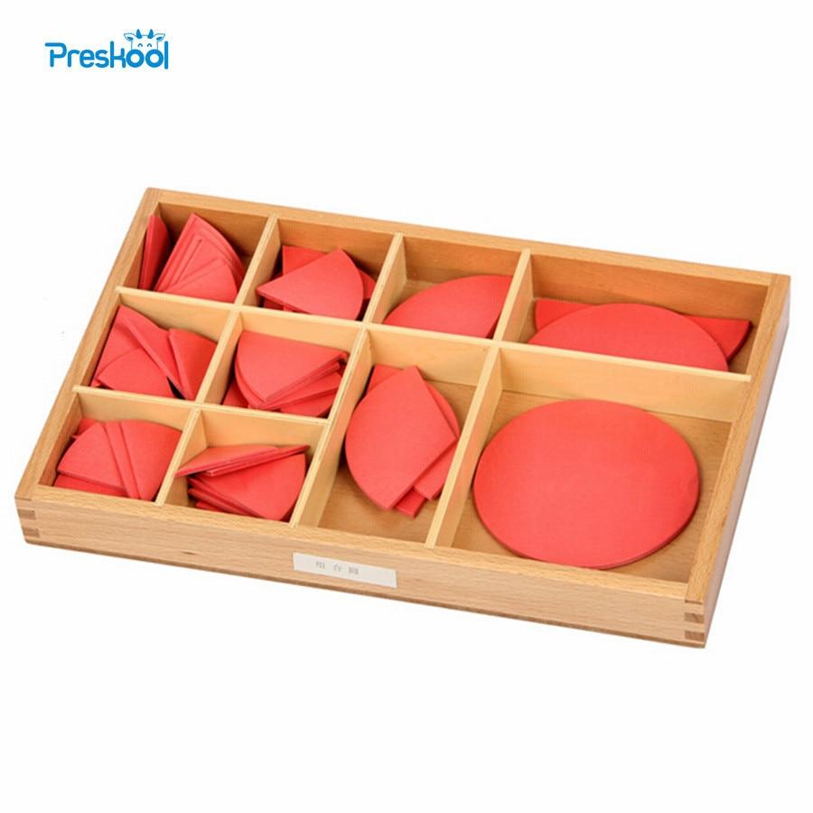 aadf15be5e Bambino Giocattolo Montessori Grandi Skittles Frazione Con Stand In Legno  per L'educazione della Prima Infanzia Prescolare Per Bambini Brinquedos ...