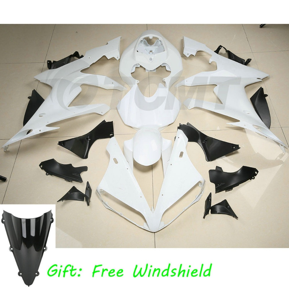 Unpainted ABS Injection Fairing Cowl Kit BodyWork For YAMAHA YZF R1 2004 2006 05 Motorcycle