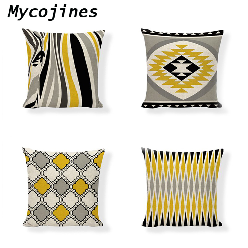 Home Textile Nordic Arrows Geometric Stripes Simple Square Beige Pillow Cases Sofa Chair Cushion Cover Shop House Home Decorations For Gift
