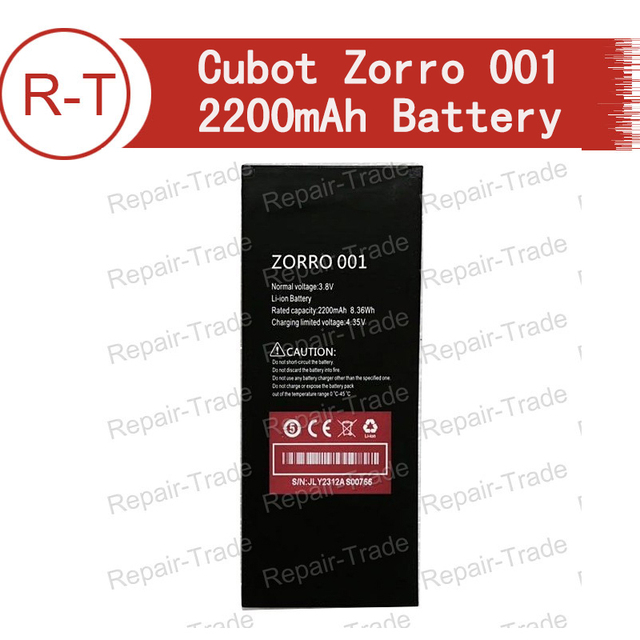 US $10 99 |Cubot Zorro 001 Battery 100% Original 2200mAh Backup Bateria for  Cubot Zorro 001 Mobile Phone With Free Shipping+Tracing Number-in Mobile