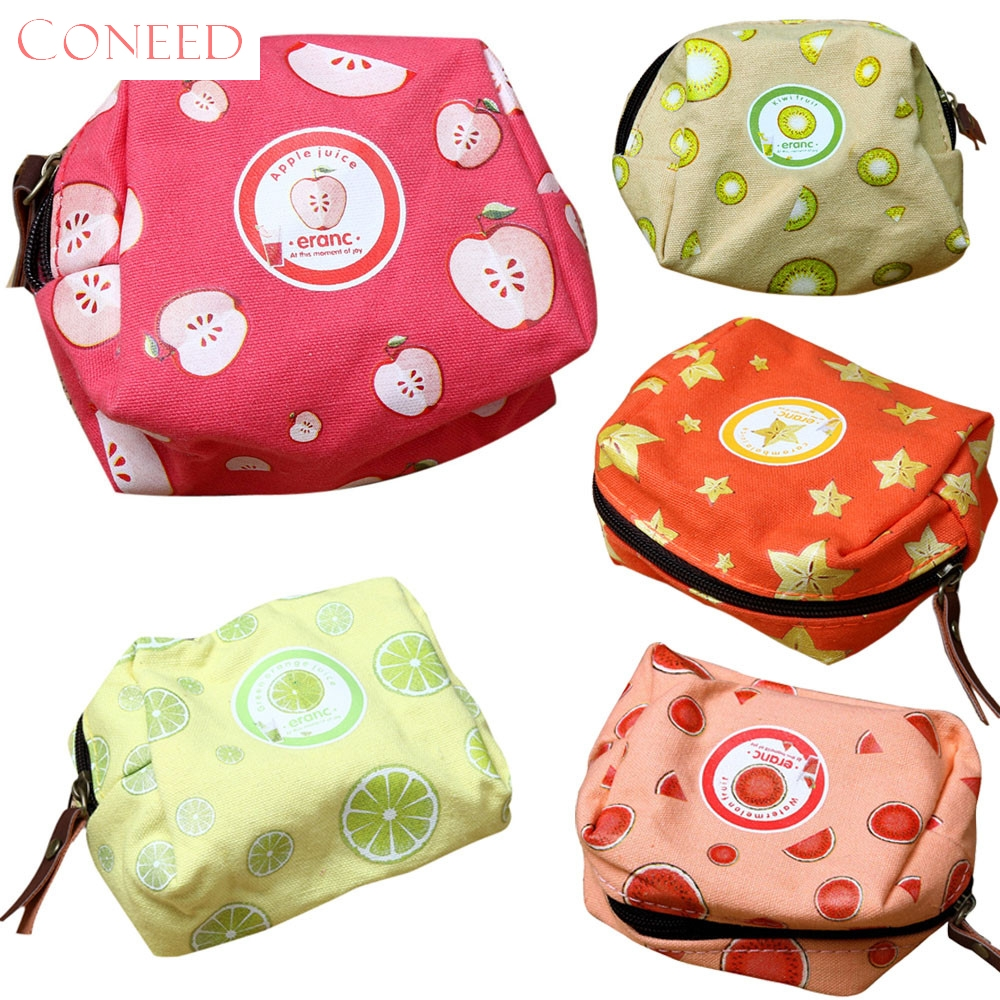 CONEED Drop Ship 2017 Girls Coin Purses Cute Fruit Coin Purse Wallet Bag Change Pouch Key Holder Sep19 drop ship women girls cute fashioncoin purses small bagssnacks coin purse wallet bag change pouch key holder juy14